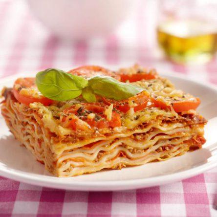 Lasagne auf Roma Tomaten